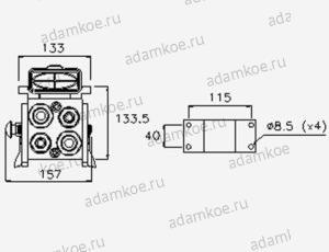 Мультиконнектор MultiFaster P510-чертеж2