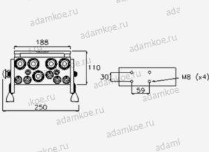 Мультиконнектор MultiFaster P10A-чертеж2