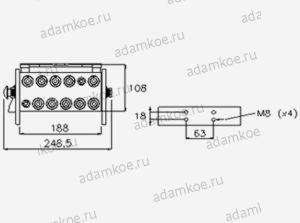 Мультиконнектор MultiFaster P1004-чертеж2